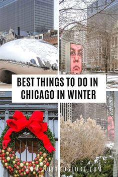 16 Best Things to do in Chicago in the winter by a local - Travel.Earth - 16 Best Things to do in Chicago in the winter by a local Visiting Chicago in winter? Read our Chicago winter travel guide via Dotted Globe Road Trip Travel - Visit Chicago, Chicago Travel, Chicago Chicago, Chicago Vacation, Usa Travel Guide, Travel Usa, Travel Tips, Globe Travel, Travel Packing