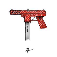 #streetwear #hypebeast #graphicdesign #logo #artwork #supreme #monogram #gun #death #shots #shogun #fun #versace #lux #luxury