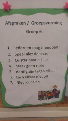 Klassenregels groep 6