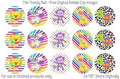 Rainbow Animals <3 FREE Digital Bottle Cap Images!! https://www.facebook.com/thetrendyowlUS http://www.thetrendyowl.com