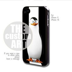 Kowalski Penguins of Madagascar - For iPhone 4 / 4s | TheCustomArt - Accessories on ArtFire