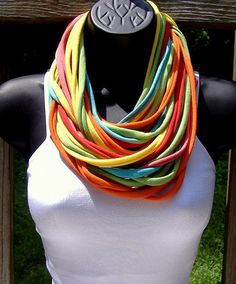 t-shirts repurposed to a scarf