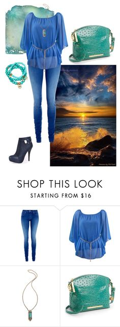 """""""agua lagoon"""" by stella-de-luna-fashion ❤ liked on Polyvore featuring Salsa, Samantha Wills, Brahmin and Sequin"""