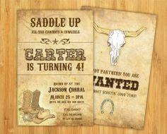 DIY Western Cowboy Birthday Invitation Set by theCreativePeanut, $20.00