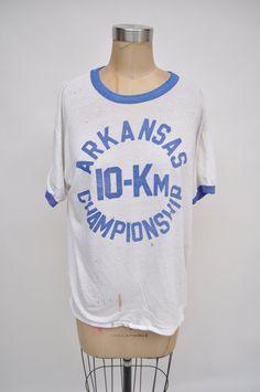 vintage tshirt ARKANSAS 10-k CHAMPIONSHIP by goodbyeheartwoman