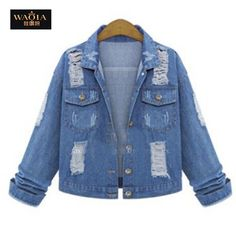 Cheap women denim jacket, Buy Quality jeans jacket for women directly from  China jackets for women Suppliers  New Women Denim Jackets Spring Summer  Autumn ... 40ab98e6172