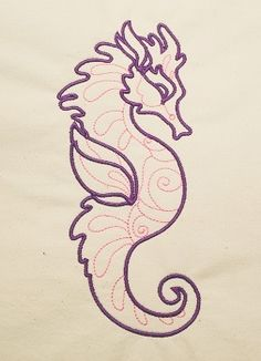 Magical Seahorses Machine Embroidery Design - with free sample