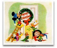 Disney Co. Christmas card 1958