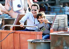 Marc Anthony and son Max at #Disneyland