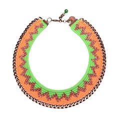 VENESSA ARIZAGA 'Toucan' crochet woven necklace ($550) ❤ liked on Polyvore