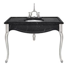 LB 6335 BK La Chapelle single black Marquina marble console Consoles, Tiles, Marble, Sink, Vanity, Layout, Luxury Bathrooms, Inspiration, Home Decor