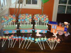 Emerson's 3rd Birthday Pops | Flickr - Photo Sharing!  Birthday cake pops for a 3rd birthday!  #cakepops #birthday