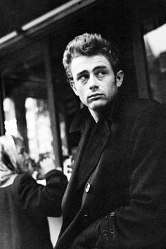 James Dean photographed in New York City by Dennis Stock, 1955