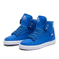 SUPRA KIDS VAIDER | ROYAL / WHITE - WHITE | Official SUPRA Footwear Site