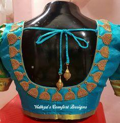 Bridal Blouse Designs done at Vidhya's Comfort Designs, Besant Nagar, Chennai Contact - 9003020689 Bridal Blouse Designs done at Vidhya's Comfort Designs, Besant Nagar, Chennai Contact - 9003020689 Patch Work Blouse Designs, Maggam Work Designs, Simple Blouse Designs, Stylish Blouse Design, Wedding Saree Blouse Designs, Saree Blouse Neck Designs, Chennai, Designer Blouse Patterns, Churidar
