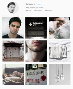 "Reimagined Modern Profiles: ""bucky barnes → instagram {Captain America}"""