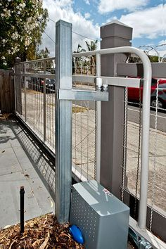 Heritage Woven Wire Fence and Gates installed around Melbourne, Woven wire fencing materials shipped Australia wide.Wire, gates and posts. Building A Fence Gate, Fence Gate Design, Deer Fence, Front Yard Fence, Horse Fence, Swing Gate Opener, Gate Openers, Melbourne, Fence Doors