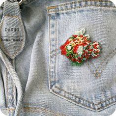 Fish Beaded Brooch, Pin Collection, Brooches, Jewerly, Fish, Embroidery, Beads, Handmade, Accessories