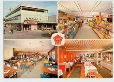 Fredrikstad Stabburet matsenter og kafeteria  Østfold fylke 1960-tallet   Cafeteria