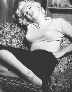 "Marilyn at the home of Milton Greene in Weston, Connecticut, for her ""Person to Person"" interview on CBS, April 8th 1955."