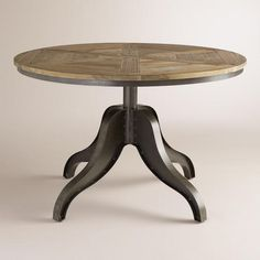 One of my favorite discoveries at WorldMarket.com: Maci Adjustable Height Parquet Table