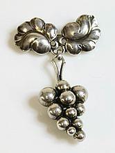 A silver Georg Jensen brooch, No. 217A, 'Moonlight