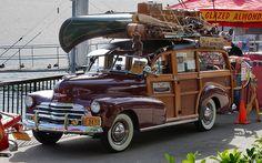 1947 Chevrolet woody - maroon - fvl