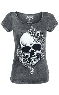Skull & Roses T-Shirt by Black Premium ~ EMP