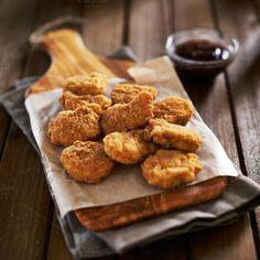 crispy chicken nuggets by rezart on Creative Market