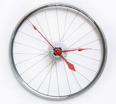 Handmade Road Wheel Clock - Tread & Pedals - Upcycling Studio - Sustainable Design for Him, Her & Home