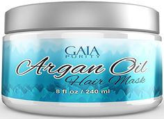 Best Argan Oil Hair Mask - Formulated to Repair Damaged Hair - Vitamin Rich Conditioner Hydrates Dry Hair - Perfect Treatment after Shampoo - Contains Argan Oil, Coconut Oil, Shea Butter, Jojoba Oil * This is an Amazon Affiliate link. Click on the image for additional details.