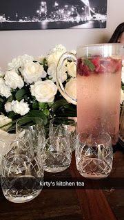 Recipe for Sparkling Raspberry Lemonade with Apple & Mint