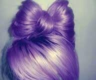 Light purple bow bun