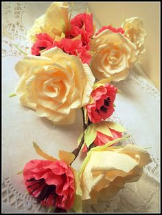Wedding garland with paper flowers/ Wedding Arch by LandofFlowers, $25.00