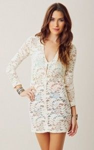 The Dahl Short Lace V Neck Dress by Alexis #fashion #dress #lace #white lace #short dress #V neck dress