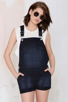 Nasty Gal Denim - The Short Fuse Shortalls - What's New   #streetstyle