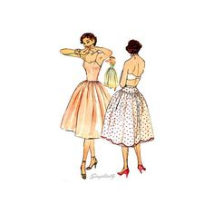Simplicity Sewing Pattern 3739 Slip in Two Lengths & Crinoline Petticoat Size 13 Bust 31 Vintage Lingerie Pattern Lingerie Patterns, Sewing Lingerie, Vintage Lingerie, 50s Vintage, Vogue Patterns, Simplicity Sewing Patterns, Best Graphics, 1950s Fashion, Fitted Bodice