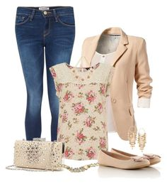 """Simple and perfect"" by sweet-beuty123 ❤ liked on Polyvore featuring Frame Denim, Gunne Sax By Jessica McClintock, ASOS and Oasis"