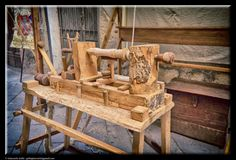 The lathe for woodworking by Giancarlo Gallo