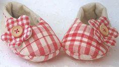Zapatitos de tela para niña hecho a mano | Solountip.com