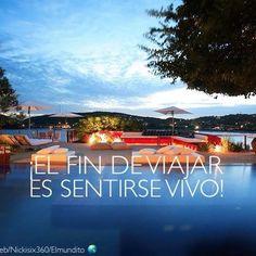 El fin de viajar es sentirse vivo!✈️#viajaporelmundoweb #nickisix360 #elmundito…