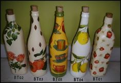 aina decoupage: garrafa