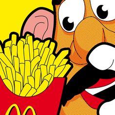Mr. Potato Head & McDonalds Fries, SLOH - Cannibalism, pop art