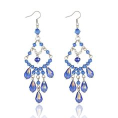 Handmade Polymer Clay Dangle Earrings Blue | Polymer: Earring ...