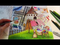 Blue Bird's Laundry (Part 3) | ROMANTIC COUNTRY Coloring Book | Coloring With Colored Pencils - YouTube