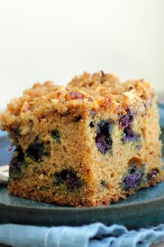 It's easy to find an occasion to serve this cake — breakfast, brunch, lunch, dinner or snacktime will do. The dominant flavor here is the berries. Don't be tempted to increase the amount of walnuts in the topping — scarcity makes them even more delightful. (Photo: Lisa Nicklin for The New York Times)