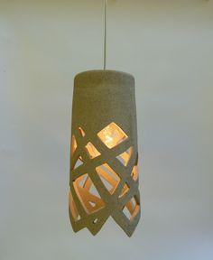 Diagonals lights Hanging lightfixture by LightfixtureTamar on Etsy Ceramic Lantern, Ceramic Light, Ceramic Clay, Ceramic Pottery, Light Fittings, Light Fixtures, Advanced Ceramics, Ceramic Materials, Paperclay