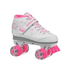 Roller Derby Girls Sparkle Lighted Wheel Roller Skates, White