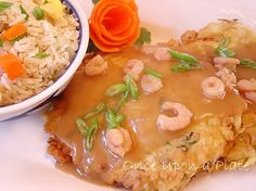 Homemade egg foo young recipe Very good, just cut one of the eggs to a egg white. Gravy, excellent.