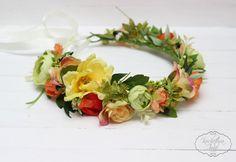 Summer flower crown Floral crown Boho flower crown by ByKochetova